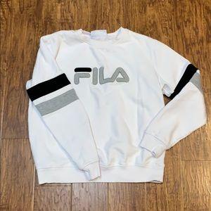 Fila white sweatshirt size medium